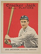 Joe Jackson, Cleveland, American League, from the Ball Players series (E145) for Cracker Jack