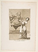 Plate 74 from 'Los Caprichos': Don't scream, stupid (No grites, tonta)
