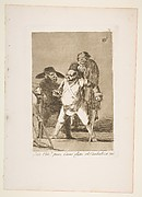 Plate 76 from 'Los Caprichos':You understand?... well, as I say... eh!  Look out! otherwise... (¿Està Umd...pues, Como digo..eh!  Cuidado! si no...)