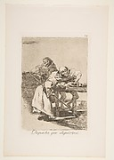 Plate 78  from 'Los Caprichos': Be quick, they are waking up (Despacha, que dispiertan.)