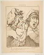 Anger, from Le Brun Travested [sic], Or Caricatures of the Passions