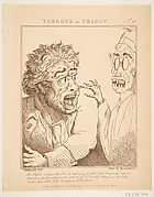 Terrour or Fright, from Le Brun Travested [sic], Or Caricatures of the Passions