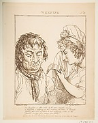 Weeping, from Le Brun Travested [sic], Or Caricatures of the Passions