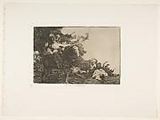Plate 17 from 'The Disasters of War' (Los Desastres de la Guerra): 'They do not agree.' (No se convienen.)