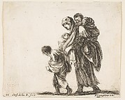 Beggar Woman with Three Children