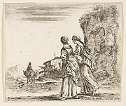 Two Girls Walking