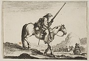Soldier on Horseback Holding His Musket