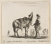 Polish Nobleman  Holding a Horse Covered by a Leopard Skin