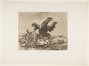 Plate 76  from 'The Disasters of War' (Los Desastres de la Guerra): 'The carnivorous vulture' (El buitre carnívoro.)