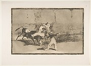 A Moor Caught by the Bull in the Ring (Cogida de un moro estando en la plaza), The Bullfight, plate 8