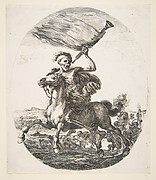 Death on Horseback Holding a Trumpet