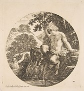 Young Satyr About to Bathe in a River