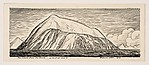Fox Island from the North, as we first saw it (recto); Fragment of a mountain landscape with overhanging clouds (verso)