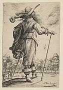 A Man Seen from the Back Leaning on a Croquet Mallet (Le Jouer de mail)