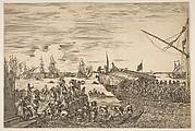 Port of Livorno: Departure of a Galley