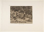 Plate 79 from 'The Disasters of War' (Los Desastres de la Guerra): 'Truth has died' ' (Murió la verdad.)