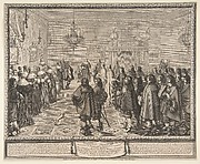 Ceremony of the Contract of Marriage between Vladislas IV, King of Poland, and Louise Marie Gonzaga, Princess of Mantua, at Fontainebleau (Ceremonie Observée au contract de Mariage...entere Vladislau IV  du nom Roy de Pologne...)
