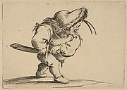 L'Homme S'Apprêtant a Tirer son Sabre (Man Preparing to Draw his Sword), from Varie Figure Gobbi, suite appelée aussi Les Bossus, Les Pygmées, Les Nains Grotesques (Various Hunchbacked Figures, The Hunchbacks, The Pygmes, The Grotesque Dwarfs)
