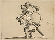 L'Homme au Gros Dos Orné d'Une Rangée de Boutons (Man with a Large Back Ornamented with a Row of Buttons), from Varie Figure Gobbi, suite appelée aussi Les Bossus, Les Pygmées, Les Nains Grotesques (Various Hunchbacked Figures, The Hunchbacks, The Pygmes, The Grotesque Dwarfs)