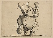 Le Beveur vu de Face (The Drinker Viewed from the Front), from Varie Figure Gobbi, suite appelée aussi Les Bossus, Les Pygmées, Les Nains Grotesques (Various Hunchbacked Figures, The Hunchbacks, The Pygmes, The Grotesque Dwarfs)