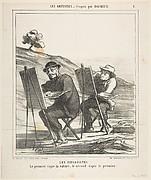 Les Paysagistes: Le premier copie la nature, le second copie le premier (The first copies nature, the second copies the first)