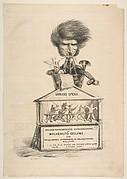 Caricature of Berlioz, from La Caricature Provisoire, no. 1
