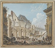 Demolition of the Old Vestibule of the Palais-Royal, Paris