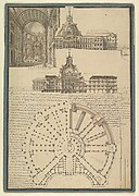 Architectural Drawing for a Chapel and Hospital