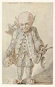 Caricature of  a Junkman [recto], Caricature of a School Master [verso]