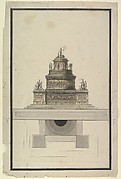 Elevation and Plan for a Round Mausoleum