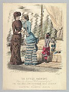 The Latest Fashions Expressly Designed and Prepared for the Milliner, Dressmaker and Draper and Illustrated Household Journal, from Le Moniteur de la Mode
