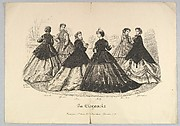 Six Women Outdoors, No. 676, from La Elegancia