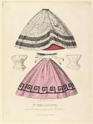 Jupons, corsets et relève jupe de la Maison de Plument, from Les Modes Parisiennes Illustrées