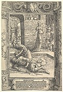 Jael Killing Sisera,  ornamental frame