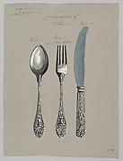 "Design for a Silver Knife, Fork and Spoon ""St. Marcus Pattern"""