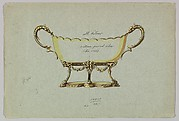 Design for a Silver Dish with Two Handles in the Form of Serpents