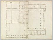 Unidentified building, plan (recto) blank (verso)