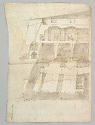 Bastione Ardeatino, Rome, plan and section (recto) Bastione Ardeatino, Rome, plans (verso)