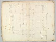Palazzo Farnese, plan, garden extension (recto) blank (verso)