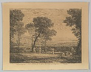 Dance Under the Trees (Landscape with Rural Dance)