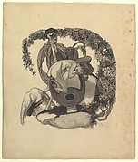 Study for a Book Plate: Leda and the Swan