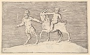 Satyr Leading Goat on which a Infant Rides