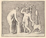 Man and Woman Sacrificing a Goat