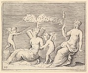 Two Women and Two Cupids