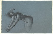 Study of Female Nude Bending on Hands and Knees