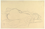 Reclining Nude with Drapery, Back View