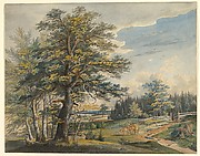 Wooded Landscape with Stag