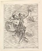 Groupe de deux angelots (regardant vers la droite)