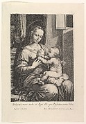 La Vierge a l'enfant, a la rose