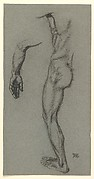 Study of the Left Arm and the Left Side of a Male Nude